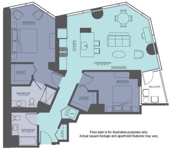 Floor Plan  Floor Plan at Moment, Illinois, 60611