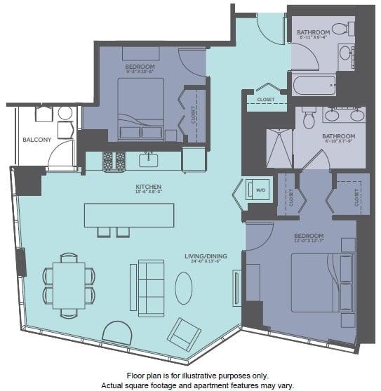 Floor Plan  Floor Plan at Moment, Chicago, 60611