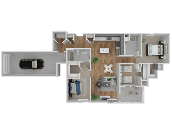Floor Plan  Hub Apartments | Folsom CA |Floorplan | 1274 C1