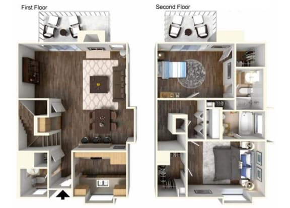 The WIllow 2x2 floor plan. for rent at Kirker Creek in Pittsburg Ca
