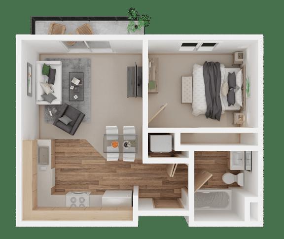 1 Bedroom Everett, WA l Vintage at Everett Apartments