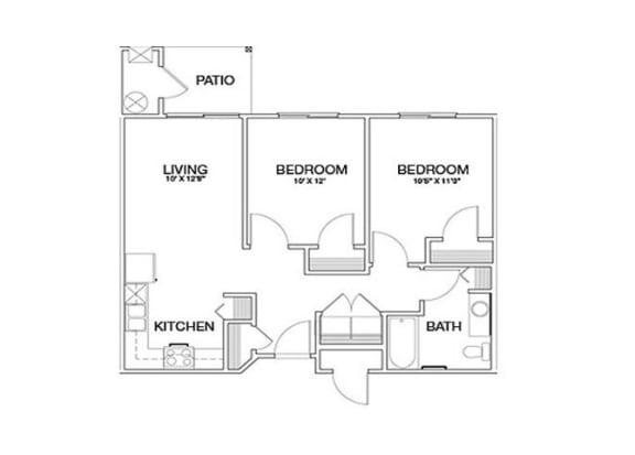 Two Bedrooms Laughlin, NV l Vintage at Laughlin Senior Apartments