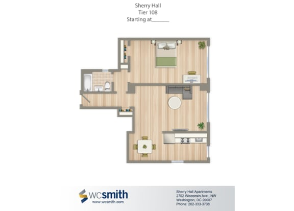 679-Square-Foot-One-Bedroom-Apartment-Floorplan-Available-For-Rent-Sherry-Hall-Apartments