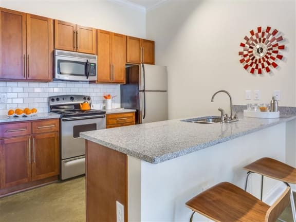 Well Equipped Kitchen at Greenway at Fisher Park, Greensboro