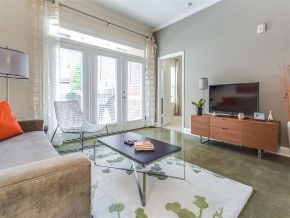 Spacious Living Room at Greenway at Stadium Park, Greensboro, 27401