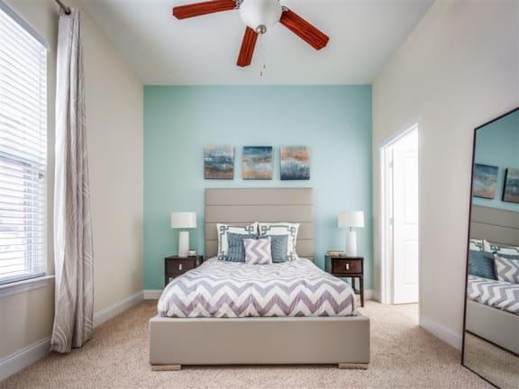 Beautiful Bright Bedroom With Wide Windows at Greenway at Stadium Park, Greensboro