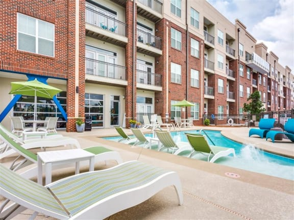 Relaxing Pool Area With Sundeck at Greenway at Stadium Park, Greensboro, 27401