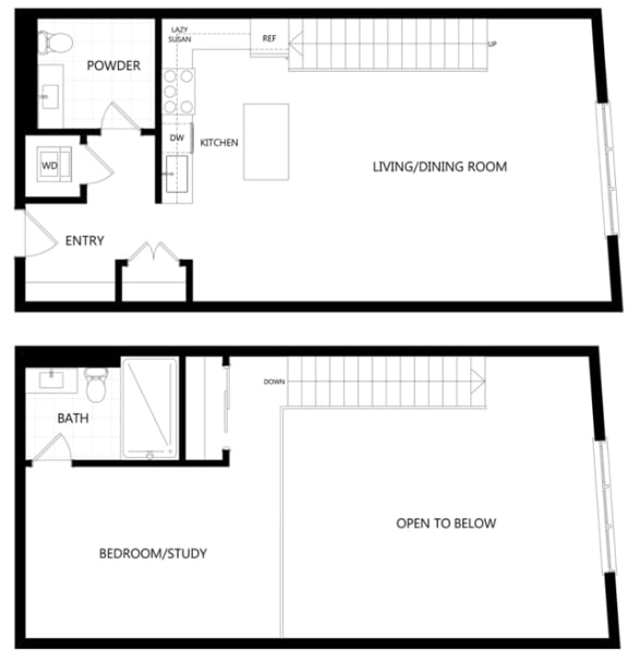 unit 211_1 bedroom loft at The Mansfield at Miracle Mile, Los Angeles, 90036