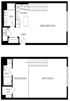 unit 225_1 bedroom loft at The Mansfield at Miracle Mile, Los Angeles, CA, 90036