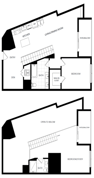 unit 232_2 bedroom loft at The Mansfield at Miracle Mile, California, 90036