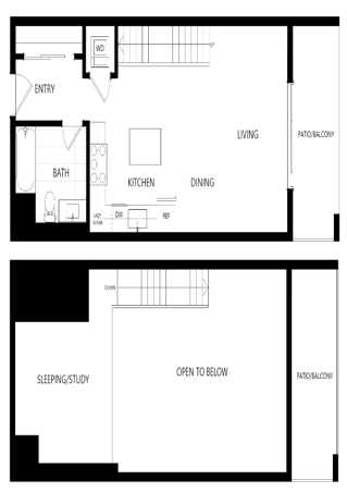 unit 623 studio loft penthouse at The Mansfield at Miracle Mile, Los Angeles, CA