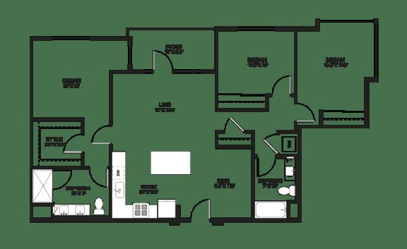 Floor Plan  Three bedroom floor plan