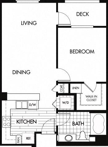 Floor plan at Trio Apartments, Pasadena, 91101