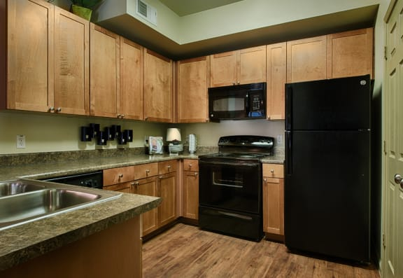 Fully-Equipped Kitchen at Forty Two 25 Apartments