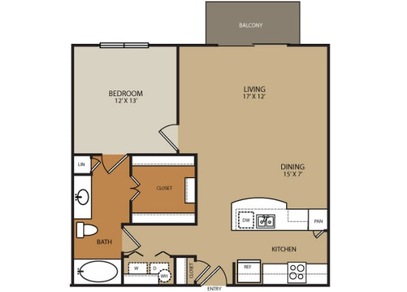 Floor Plan  Residences at Forty Two 25 Apartments for rent in Phoenix, AZ - floor plan