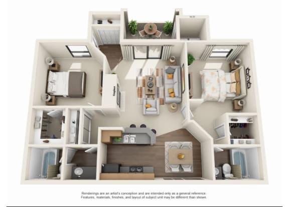 2 bedroom Casita Classic | Two bedroom Two bathroom