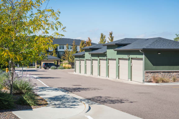 Garages at Arterra Place Apartments in Aurora, CO