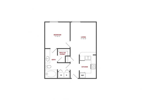 Floor Plan  The Saulet Marigny 1x1