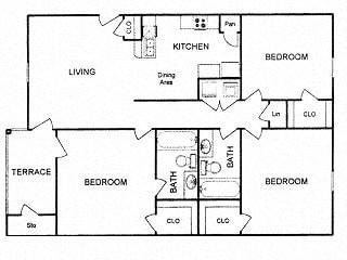 Floor Plan  Floor plan at Clear Creek Meadows, Texas, 76522