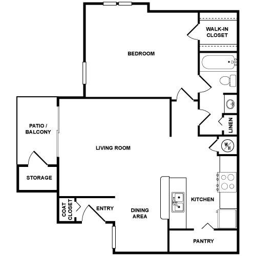 A2 Floor Plan at Palmetto Grove, South Carolina
