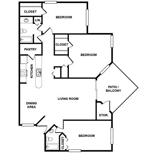 Floor Plan  C1 Floor Plan at Palmetto Grove, Charleston, SC