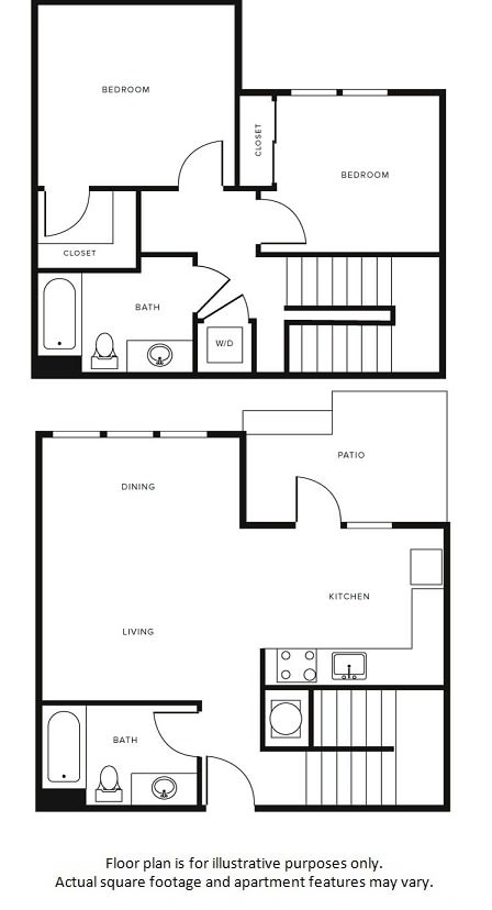 Floor Plan at Morningside Atlanta by Windsor, Georgia, 30324