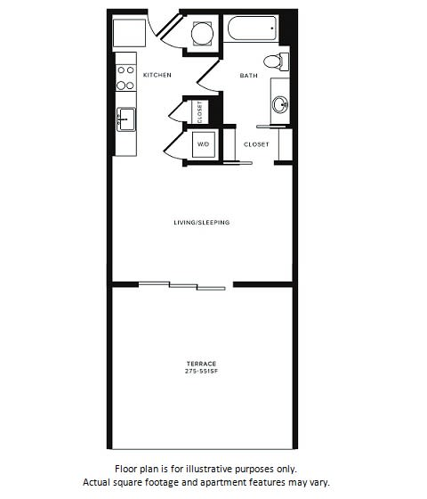 Floor Plan at Morningside Atlanta by Windsor, Atlanta, 30324