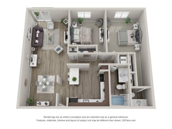 Floor Plan  Hawthorne Layout Floor Plan at Carol Stream Crossing, 535 Thornhill Drive, Carol Stream, Illinois