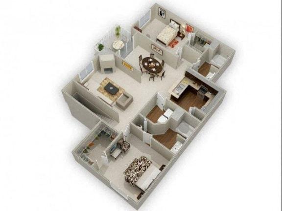 Two Bedroom Two Bathroom Floor Plan Juniper