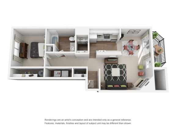 Floor plan at Canyon Park, Beaverton, 97005
