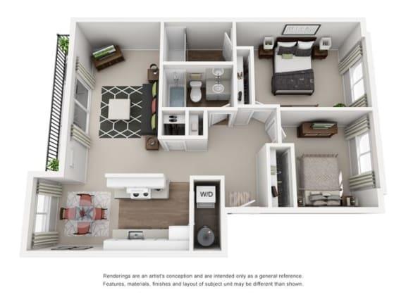 Floor plan at Canyon Park, Beaverton, OR 97005