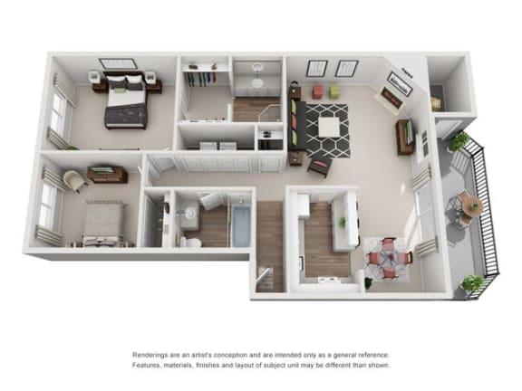 Floor Plan  Floor plan at Canyon Park, Beaverton, OR