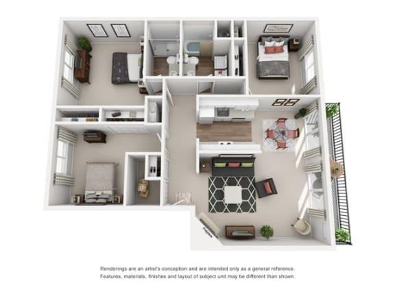 Floor Plan  Floor plan at Canyon Park, Beaverton