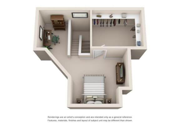 1 Bed 1 Bath Floor Plan at Sorrento Bluff, Beaverton, OR 97008