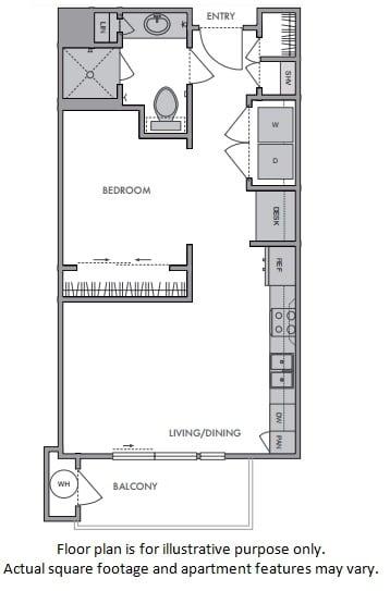 Floor Plan  A Floor Plan at Windsor Lantana Hills, Austin