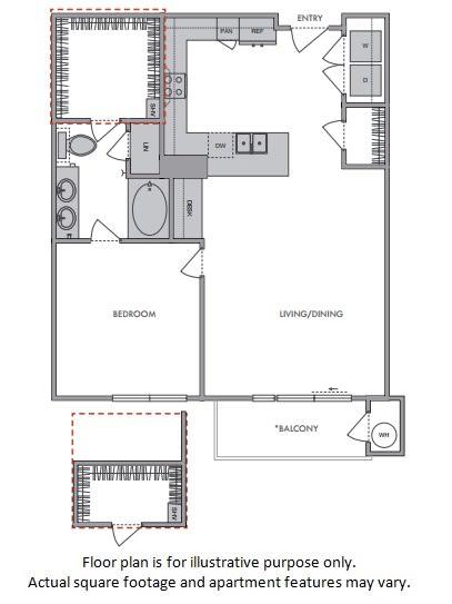 Floor Plan  D Floor Plan at Windsor Lantana Hills, Austin, TX 78735