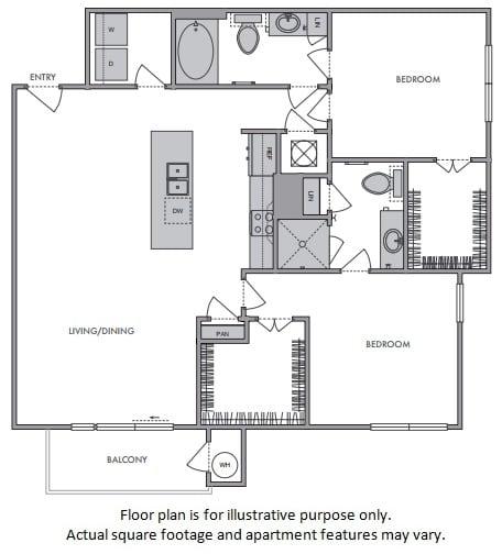 Floor Plan  F Floor Plan at Windsor Lantana Hills, Austin, 78735