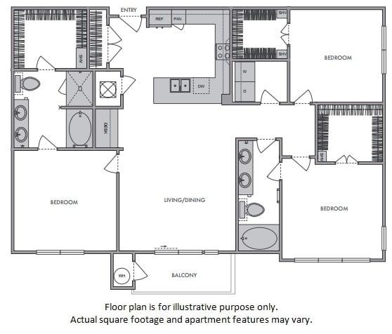 Floor Plan  H Floor Plan at Windsor Lantana Hills, Austin