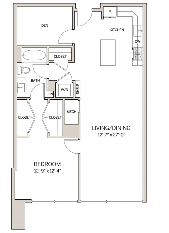 1 Bed 1 Bath Den A18D at AVE King of Prussia, Pennsylvania