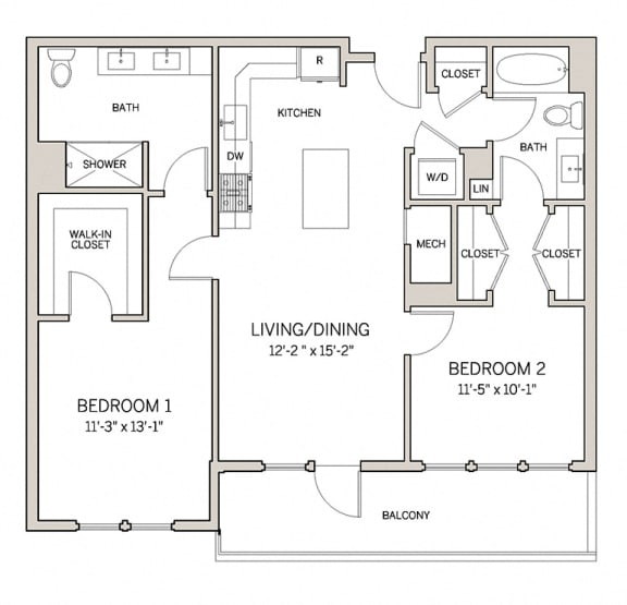 Two Bed Two Bath B2 at AVE King of Prussia, King of Prussia