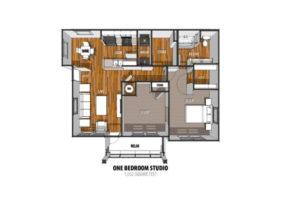 Floor Plan at La Contessa Luxury Apartments, Laredo,Texas