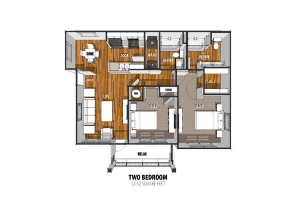 Floor Plan at La Contessa Luxury Apartments, Texas
