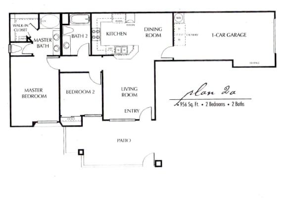 Plan 2A FloorPlan at TERRAZA DEL SOL, Rancho Cucamonga, CA