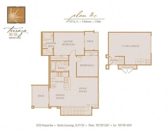 Plan 2C FloorPlan at TERRAZA DEL SOL, California, 91730