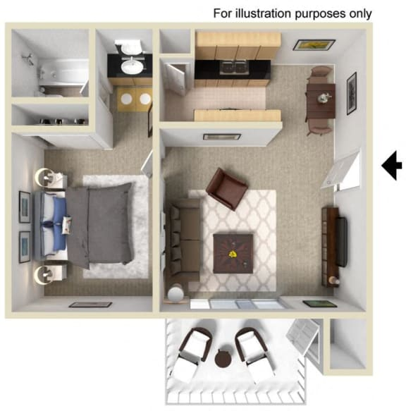 Plan D Floor Plan at WOODSIDE VILLAGE, West Covina, California