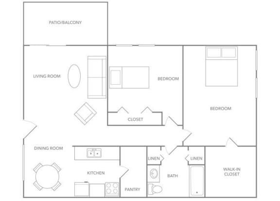 Floor Plan  Antigua 1000A Floor plan at Paradise Palms, Phoenix