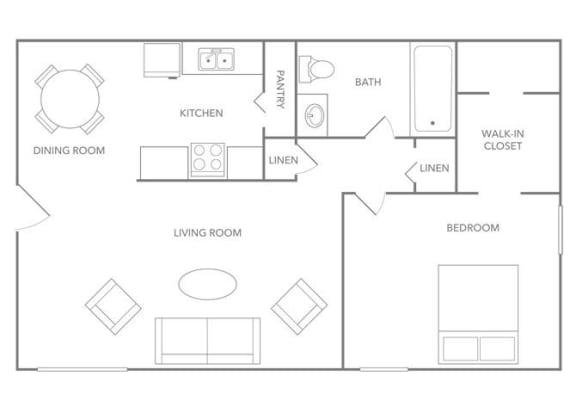 Floor Plan  Barbados 750B Floor plan at Paradise Palms, Arizona, 85014