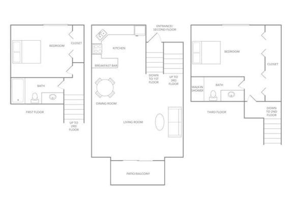 Bermuda 1275 Floor plan at Paradise Palms, Arizona