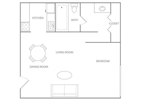 Oasis 330B Floor plan at Paradise Palms, Phoenix, 85014