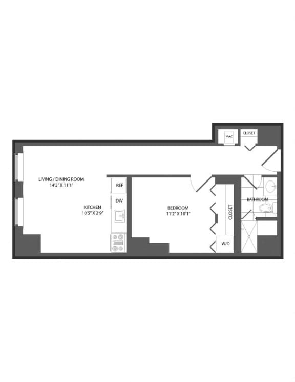 Floor plan at The Republic, Philadelphia, PA 19103